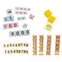 Montessori Banque Jeu + Nombre Cartes Jouets pour Enfants Math apprentissage