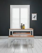 Dining Table with 2 Benches Dining Set Kitchen in Choice of Colours