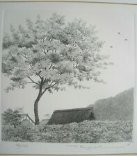 """Ryohei Tanaka Etching """"May Breeze"""" Signed Limited Edition"""