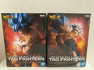 Banpresto BanDai Dragon Ball Super Tag Fighters Goku & Vegeta Statue Set of 2