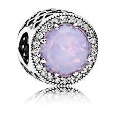 Original Pandora Amuleto Schillernd-Rosafarbener Corona Corazones 791725NOP