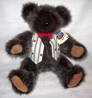 """Pottery Creek HandCrafted Artist Signed Bear Cub Plush Brown Teddy 16"""""""