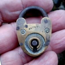Vintage Early 1900s Small Brass Padlock