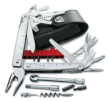 Victorinox Clip Multifunctions Swisstool More 2 42 Tools+Case Leather 3.0339.L