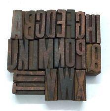 Mix 22 Letterpress Letter Wood Type Printers Block collection(Tx-22)