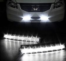 2pcs Car 8 LED Super White DRL Driving Daytime Running Day LED Light Head Lamp