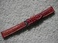 GENUINE BREITLING TAN CROCO LEATHER WATCH STRAP 16 MM INCLUDING BUCKLE
