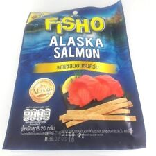 Fisho Alaska Smoked Fish Blue Delicious Dried Food Salmon Snack Barbecue 5x20g.