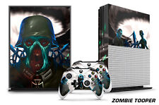 Designer Skin for XBOX ONE S 1S Gaming Console+2 Controller Sticker Decal ZOMBIE