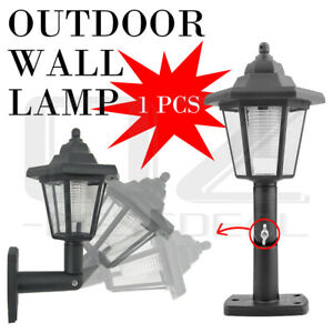 Solar LED Light Outdoor Garden Wall Pathway Light Lamp Lantern Wall Mounted