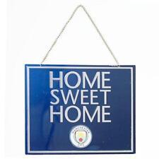 MANCHESTER CITY HOME SWEET HOME SIGN DOOR WALL HANGING FOOTBALL FAN MERCHANDISE