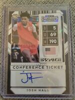 /99📈 2020 Contenders Draft Josh Hall Thunder RC Rookie Auto Conference Ticket