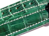 BREITLING BAND 503P 15MM 15/14 CROCO GRÜN GREEN STRAP MIT DORNSCHLIESSE 040-15