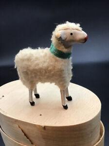 Alt Wollschafe  Wollschafe Spielzeug  Puppenstube Krippenschaf Ostern