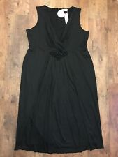 Sheego Black Evening Beaded Long Dress Plus Size 26 NEW