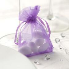 LILAC Luxury ORGANZA Favour Bags x10 Pieces - Wedding Gift Pouches - 12x17cm