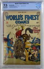 WORLD'S FINEST COMICS #42 CBCS 7,5 Superman Batman 1949 CGC Only 3 Higher Graded