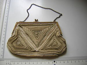 Beaded purse Vintage MADE IN FRANCE,1920,S FLAPPER