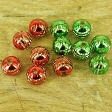 24 x CCB Round Plastic Green or Red Christmas Beads 3mm Hole 16mm PB20