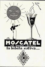 PUBBLICITA'1929 PEZZIOL PADOVA MOSCATEL BIBITA ESTATE SELZ SOLE DRINK ARREDO BAR