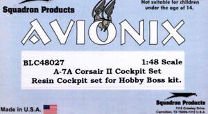 Squadron Products Avionix BLC48027 - 1/48 A-7A Corsair II Resin Cockpit Set