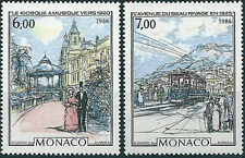 "MONACO 1986 Yvert#  N°1543/1544** MONTE CARLO & MONACO ""BELLE EPOQUE "" , MNH"