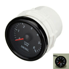 Diesel Engine 52mm 12V 0-6000 RPM Dash Electrical Tachometer Gauge Universal