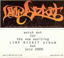 Limp Bizkit - Rare German Logosticker 2000