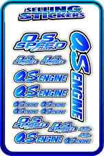 RC AIRCRAFT STICKERS HELI OS ENGINES CAR BUGGY O.S SPEED NITRO PIPE BLUE BLEND W