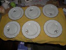 Set of 6 Tinkerbell Walt Disney Gallery Porcelain Salad Plates Mint w/ tags