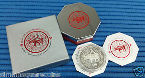 1997 Singapore Lunar Year of the Ox $10 Silver Piedfort Proof Coin