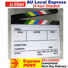Clapperboard Clapper Board TV Film Movie Slate Colorful Clapboard OZ Seller New