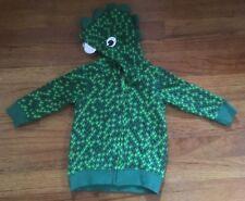 Baby Halloween Costume 4-6 Months Dinosaur Jacket Zipper Green Eyes New w/ tags