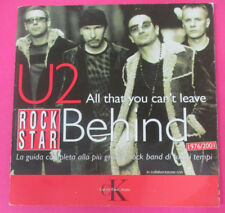 BOOK LIBRO U2 All that you can't leave BEHIND 1976/2001 ROCK STAR no cd lp mc