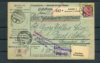 DR Auslands-Paketkarte Germania 4 Mark MiF Leipzig-Basel - b3595