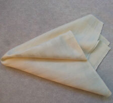 NEW IVORY CREAM STRIPED EGYPTIAN COTTON HANKIE HANDKERCHIEF TOP POCKET SQUARE