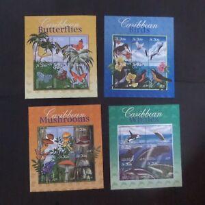 St Kitts 2001 Caribbean Flora fauna birds whales SG650/79 MNH UM unmounted mint