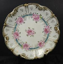 Elegant Antique Jlmenau Porcelain Factory Germany Large Serving Bowl