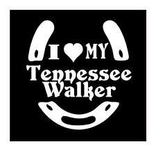 I LOVE MY TENNESSEE WALKER HORSESHOE VINYL CAR TRUCK WINDOW DECAL STICKER 5X5