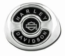 Harley Mens .925 Silver Black Onyx Inlayed Derby Cover Signet Ring (11) HDR0309