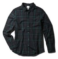Adidas Men's Check Shirt Long Sleeve Neo Label Shirts --- Black / Green / Grey