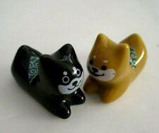 Japanese Porcelain Chopsticks Chopstick Rest dog shiba inu   2pcs