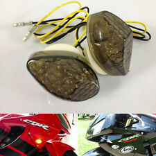 Front Smoke LED Turn Signals Flush Mount For Honda CBR 600RR 1000RR F4 F4i 99-07