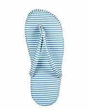 Charter Club Printed Slippers Blue Stripe Large