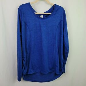 Athletic Works XXL 3XL 20 Polyester Blue Fitted Seams Women's Top Shirt