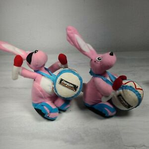 Energizer Bunny Plush Stuffed Rabbit Toy Vintage1997 small beanie LOT OF TWO