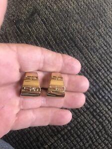 Vintage St. John Gold tone clip on Earrings