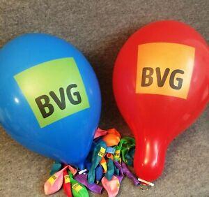 """50 große BVG Werbe-Luftballons, Balloons, Palloncini, Globos, Belbal 14"""""""