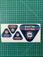 stickers autocollants decals vinyl pegatina MARTINI racing x4 planche set