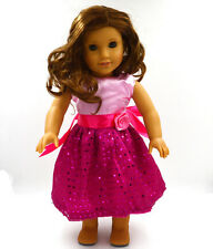 new Handmade fashion clothes dress for 18inch American girl doll party b48